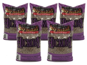 BBQ Delight Hickory Pellets 5 Pack -VIC ONLY