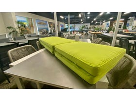 Deluxe Sunlounger Cushion - Lime Set of 2