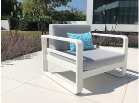 Reno Single Outdoor Aluminium  Lounge Chair