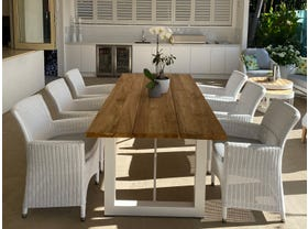 Laguna Table with Chisholm Chairs 7pc Outdoor Dining Setting