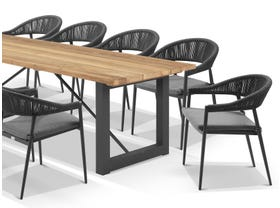 Laguna Table with Nivala Chairs 11pc Outdoor Dining Setting
