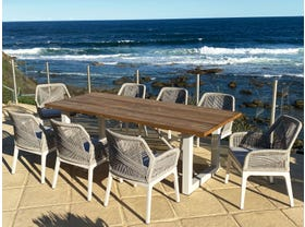 Laguna Table with Serang Chairs 9pc Outdoor Dining Setting