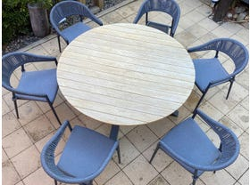 Lancaster Teak Table with Nivala Chairs 7pc- NSW ONLY