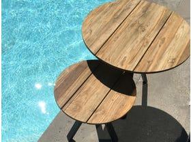 Larsen Round Side Tables 2pc Set