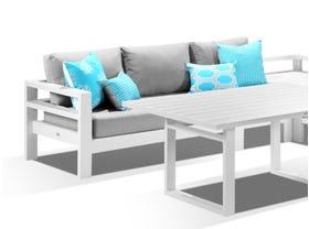Aspen 5 Seater Outdoor Aluminium Lounge Dining Setting