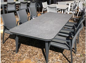 FLOOR MODEL - Leros Table with Palmetto Chairs 7pc Outdoor Setting