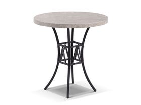 Luna 72cm Round Outdoor Natural Stone Side Table