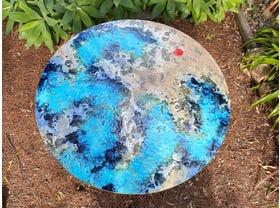 Domiziani Luna Rossa Lava Stone 120cm Round Dining Table