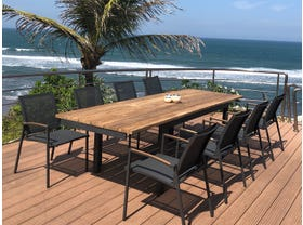 Marseille 280 Extension Table With Pacific Chairs - 9pc Outdoor Dining Setting