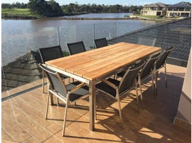 Marseille 225cm table with Pacific Chairs - 9pc Outdoor Setting -NSW ONLY
