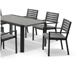 Tellaro Ceramic Table With Mayfair Chairs 7pc Outdoor Dining Setting