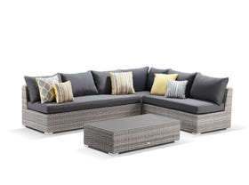Maldives 4pc Outdoor Modular Lounge Setting - VIC ONLY