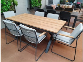 FLOOR MODEL- Fox 180 Table with Buru Chairs 7pc Dining Setting