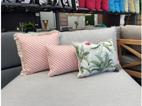 Coral Stripe and Sanctuary Studio Outdoor Cushion 3 Pack