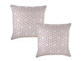 Milan Blush 45cm Outdoor Cushion 2 Pack