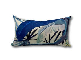 Tropicalia Porcelain Blue Outdoor Euro Bolster Cushion
