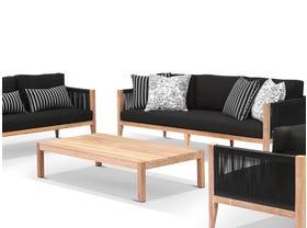 Oslo 4pc Teak Outdoor Lounge Setting