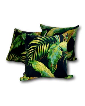 Palmiers In Night Outdoor Cushion 3 Pack