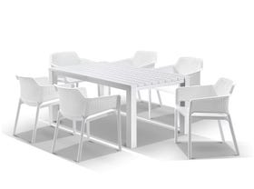 Adele Table with Bailey Chairs 7pc Outdoor Dining Setting