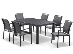 Adele table with Verde chairs  7pc Outdoor Setting