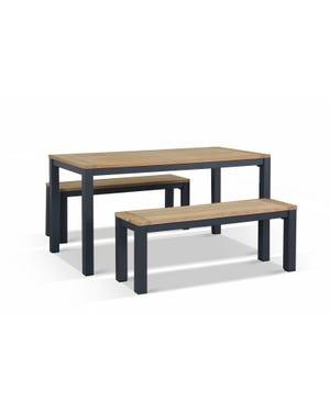 Outdoor Bench Set -Corfu 4 Seater