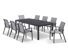 Hague Extension table with Sevilla Chairs  - 13pc Outdoor Dining Setting