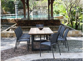 Laguna 240 Table with Pacific Chairs -11pc Outdoor Dining Setting