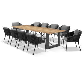 Laguna Table with Java Chairs 11pc Outdoor Dining Setting