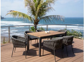Marseille 280 Extension table with Palm Chairs - 7pc Outdoor Dining Setting