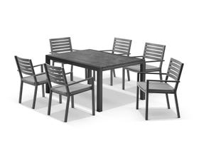 Laredo Extension Table with Mayfair Chairs 7pc Outdoor Dining Setting