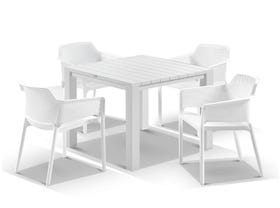 Adele Table with Bailey Chairs 5pc Outdoor Dining Setting