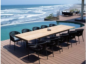 Marseille 340 Extension table with Gizella Chairs - 11pc Outdoor Dining Setting