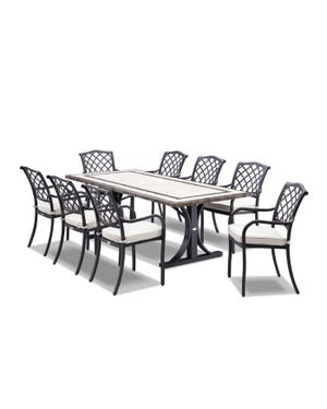 Milano Florentine 9pc Outdoor Setting