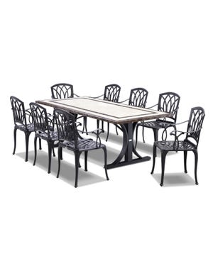 Milano Venetian 9pc Outdoor Setting