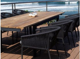 Marseille 280 Extension table with Gizella Chairs - 7pc Outdoor Dining Setting