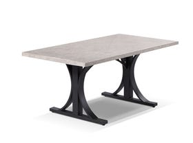 Luna  Outdoor Natural Stone Dining Table - 165  x 90