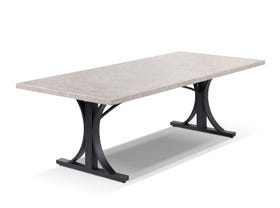 Luna  Outdoor Natural Stone Dining Table - 250 x 110cm