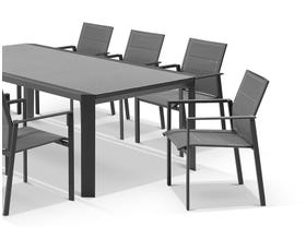 Tellaro Ceramic Table With Meribel Chairs 9pc Outdoor Dining Setting