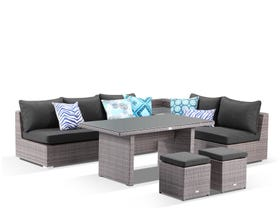 Como 7 Seater Outdoor Modular Lounge Dining Setting