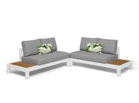 Aspen 4 Seater Outdoor Teak Platform Lounge Setting