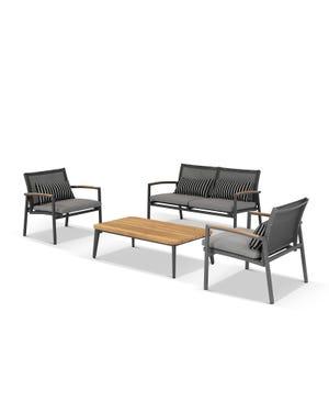 Outdoor Timber Lounge -Hampton 4pc Sofa