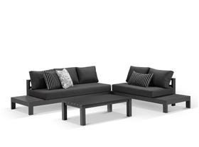 Aspen 5 Seater Outdoor  Platform Lounge Setting