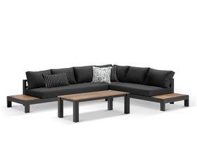 Aspen 6 Seater Outdoor Teak Platform Lounge Setting