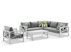Hampton 6 Seater Aluminium Outdoor Modular Lounge Setting