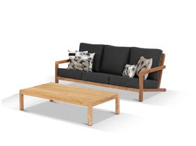 Venlo 2pc Teak Outdoor Lounge Setting