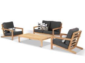 Venlo 4pc Teak Outdoor Lounge Setting
