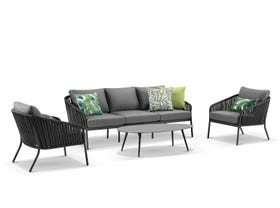Java 4pc Outdoor Rope Lounge Setting