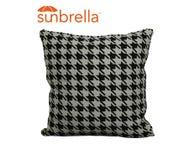 Outdoor Sunbrella Cushion -Jaq Black 40x40