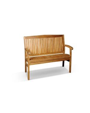 outdoor teak bench 120cm
