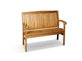 Kingston Outdoor Teak Bench 120cm
